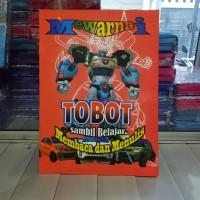 Buku Mewarnai Tobot, dan belajar membaca menulis