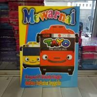 Buku Mewarnai Tayo, belajar menulis Angka dalam bahasa Inggris