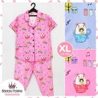 Piyama Celana Panjang XL Dewasa Baju Tidur Katun 10