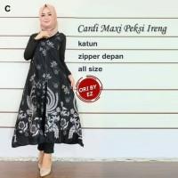 Cardi Maxi Peksi Ireng Baju Gamis Outer Batik Wanita Longcardy Batik