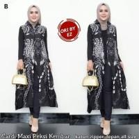 Cardi Maxi Peksi Kembar Baju Gamis Outer Batik Wanita Longcardy Batik