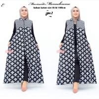 Maxi Cardi Monochrome Baju Gamis Outer Batik Wanita Longcardy Batik