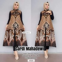 Maxi Cardi Mahadewi Baju Gamis Outer Batik Wanita Longcardy Batik