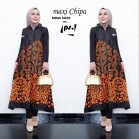 Maxi Cardi Chipa Baju Gamis Outer Batik Wanita Longcardy Batik