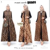 Maxi Cardi Genes Baju Gamis Outer Batik Wanita Longcardy Batik