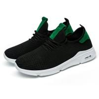 sepatu olahraga run qing black green