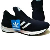 Sepatu Pria Running Sport Adidas Grade Ori Slip On / Slop