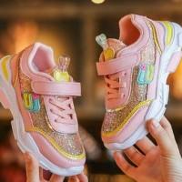 Sepatu Kets Sport Sneakers Anak Perempuan Cewek Import