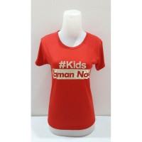 Berkualitas Kaos Kids zaman now / baju kids jaman now wanita