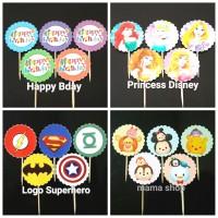 Topper Cupcake Toper Kue Cake Cupcakes Hiasan Kue Tusuk