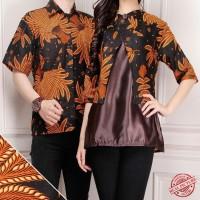 FiaStoreShop Couple batik Rosela blouse dan kemeja sarimpit Fashion
