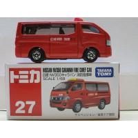 Js Nissan NV350 Caravan Fire Chief car no 27 Tomica Regul Limited