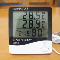 Termometer hygrometer Ruang Digital Jam thermometer in out htc-2 Y1599