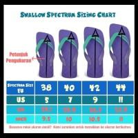 Sandal Swallow Premium Spectrum Pria - Logo Orange - Hitam, 40 SPECIAL