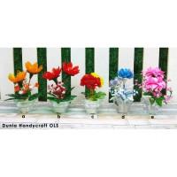 AJ03 Vas Pot Bunga Kaca Handmade Uk Kecil