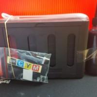 Infus System Canon Tabung+Tinta Cmyk 400ml+GRATIS TAMBAHAN BK 100ML