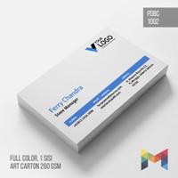 CETAK KARTU NAMA + LAMINATING, 1 SISI FULL COLOR - PDBC1002