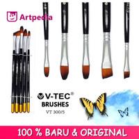 V-Tec Brush VT-300 Set 5 / Kuas Lukis Set 5 / Kuas V-Tec