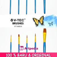 V-Tec Brush VT-600 Set 5 / Kuas Lukis Set 5 / Kuas V-Tec