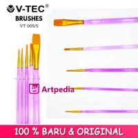 V-Tec Brush VT005 Set 5 / Kuas Lukis Set 5 / Kuas V-Tec
