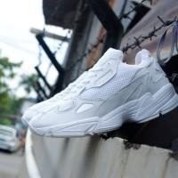 sepatu sneakers casual running adidas falcon putih cewek women wanita - ,