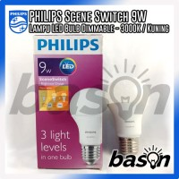PHILIPS LED Scene Switch 3step 9W Kuning - Dimmable
