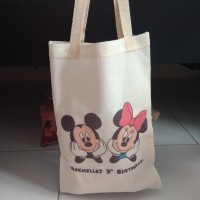 Tas Pouch Ransel Backpack Totebag Souvenir Blacu Belacu Mickey Minnie