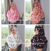Hijab / Jilbab Simple Pet Monalisa Sun Flower