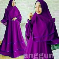 Gamis Dress Muslim Anggun Syari'I Set 2In1 Murah SBCA3218
