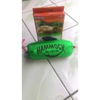 Paket Adventure Hammock Ultralight Green dan Bantal Tiup Bestway Navy