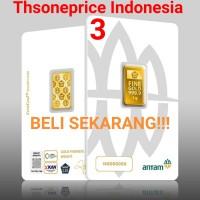 3 Gram Emas ANTAM   logam mulia   BERSERTIFIKAT   FINE GOLD 999,9% 