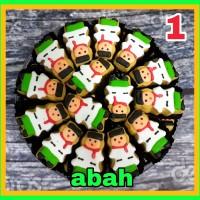 Kue Kering Cookies Hias Lebaran Abah/Umi/Haji/Hajah 500gr