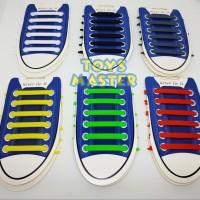 Tali Sepatu Silikon / Tali Sepatu Karet / Shoelace Silicone 12 pcs