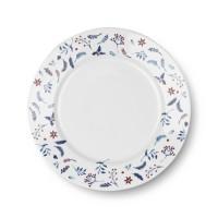 [2 pcs] ZEN Piring Makan Snowy Blue - Putih diameter 27 cm