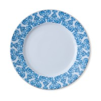 ZEN Piring Makan Ornament Blue - diameter 27 cm