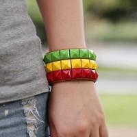 gelang jamaica reggae bob marley jamaican rasta peace bracelet