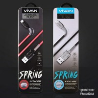 VIVAN FL100 2..4A 1M SPRING LIGHTNING DATA CABLE FOR IPHONE 5/6/7/8