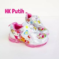 Sepatu hello kity & frozen anak LED