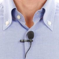 Mic Clip On Deluxe Lavalier Microphone HP Handphone Mikrofon Eksternal