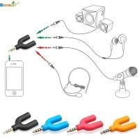 Konektor Jack Y Mic Spliter U Aux 3.5mm ke Audio Headset and