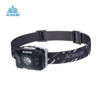 Aonijie E4097 LED 140 LM Headlight Motion sensor Lampu lari - BLACK