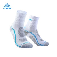 Aonijie E4095 Running Socks - Kaos kaki lari sepeda outdoor- WHITE