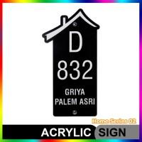 Nomor Rumah Akrilik / Acrylic Home Series 02