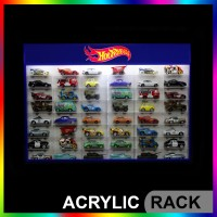 Rak Hotwheels Acrylic Slim Fit Edition ISI 48 Skala 1:64 LIGHTING