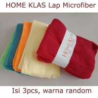 Kain Lap Microfiber 40x40 cm Isi 3pcs Pembersih Serbaguna Multifungsi