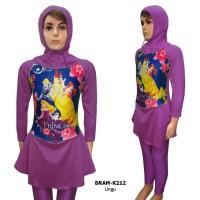 Baju Renang Anak Muslim 5-10tahun Karakter Princess BRAM-K212SD