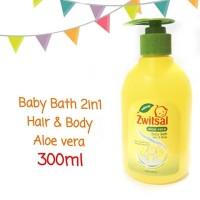Zwitsal Baby Bath 2in1 Hair & Body Aloe Vera Pump 300ml