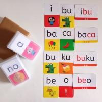 Murah Flashcard Baca Kartu Baca Anak Belajar Membaca Alusia
