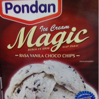 Bubuk ice cream vanilla choco chips siap pakai kemasan 160 gr