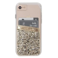 CASE-MATE Pocket Case Wallet 2 Slot iPhone X S10+ etc - Gold Glitter